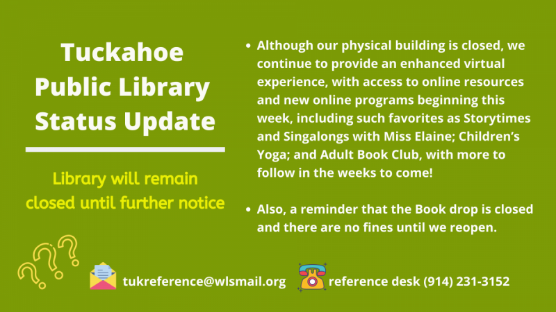 library closing notice during covid19